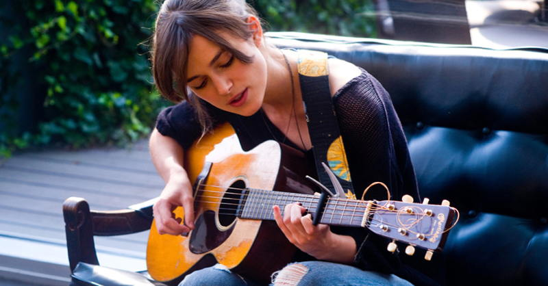 Keira Knightley in movie Begin Again