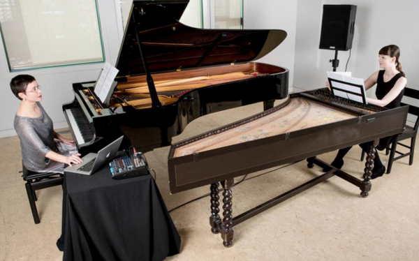 rockeys duo: Luciane Cardassi, piano, Katelyn Clark, harpsichord